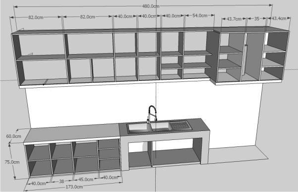 Semua ukuran pas kami buat sesuai dengan desain interior for Biaya kitchen set per meter