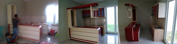 kitchenset-merah-minimalis