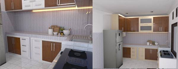kitchen set warna krem