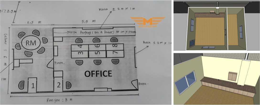 4 Cara Memanfaatkan Sebagian Interior Gudang Untuk Kantor