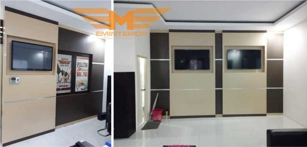 backdrop-TV-minimalis-di-Balikpapan