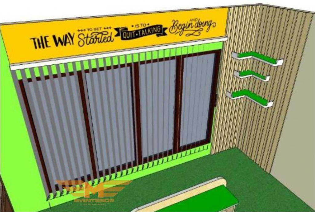 rencana furniture interior gedung kantor