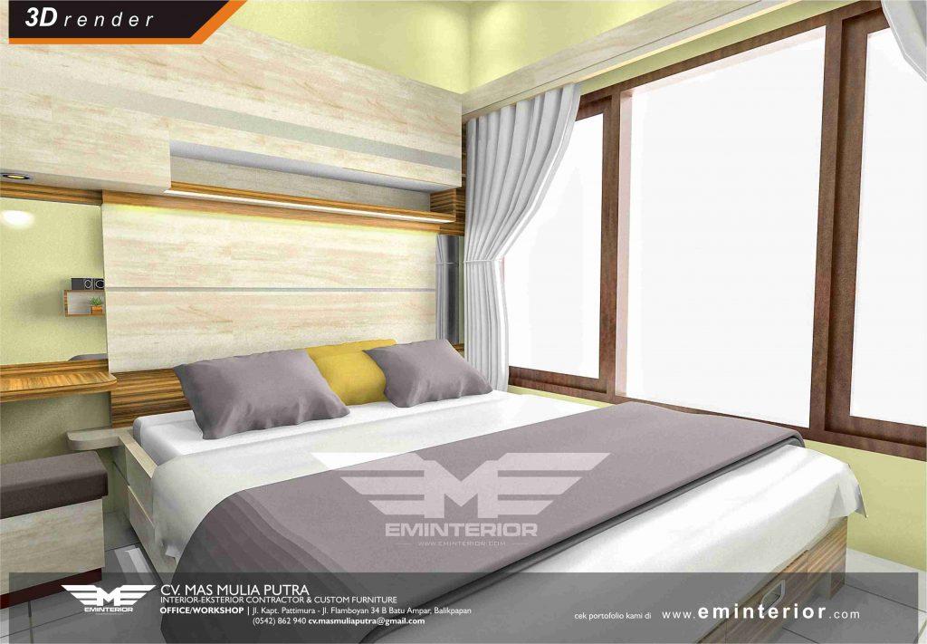 Desain Furnitur Set Minimalis Kamar Tidur Milik Bpk. Aditya
