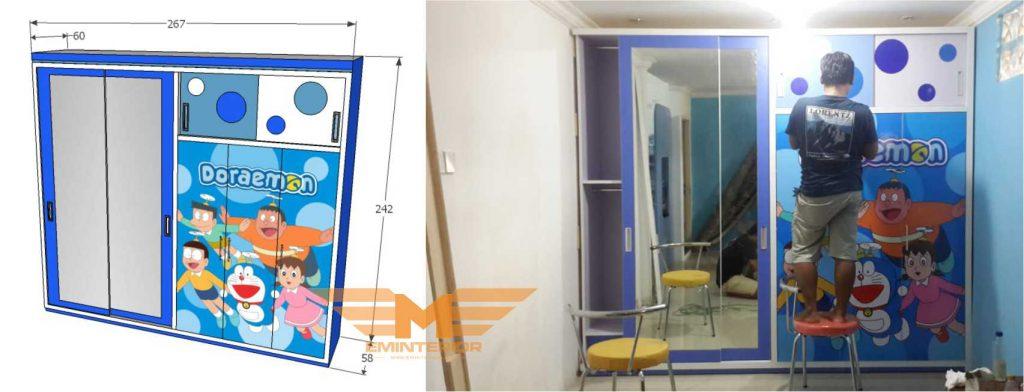 desain lemari kamar anak